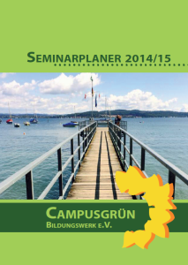 Seminarplaner 2014-15 Cover